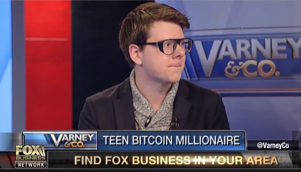 Erik Finman, Bitcoin millionaire at Fox business